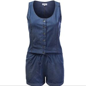 Cute denim romper only worn once and washed once